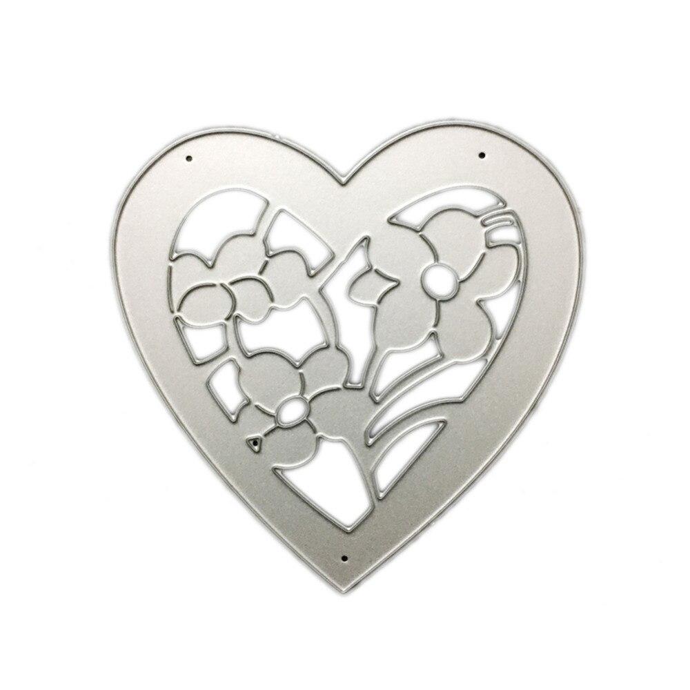 8.3*8.3cm scrapbooking cute love flower shape DIY Metal steel cutting die sweet wedding Book photo album art card Dies Cut