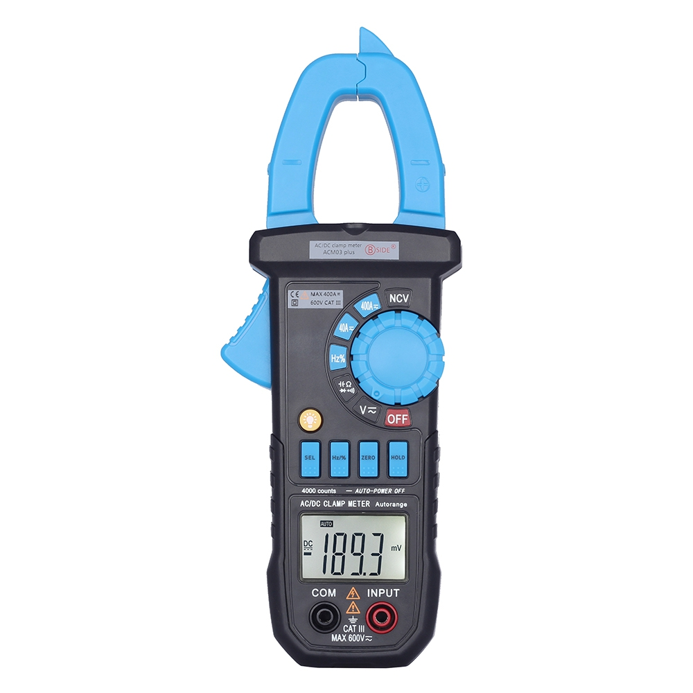 BSIDE ACM03 plus 4000 Counts Capacitance Meter Auto Range 400A AC DC Current Digital Multimeter Clamp