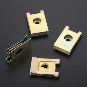 Image 3 - 20Pcs Car Fastener Clip Screw Base U Type J98 Nut Mounting Fastener Clips Automobile Engine Fender Bumper Guard Plate Clamp 3mm