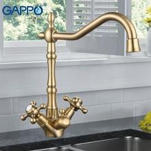Gappo фильтр для воды краны латунь кухонная раковина смесители цвет Кухня Смесители двухслойные напиток фильтр воды смесителя раковина G4398-2/3