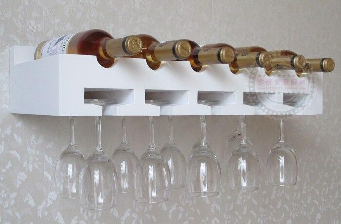 cheap nordic ikea creative wood wine rack wine cup holder