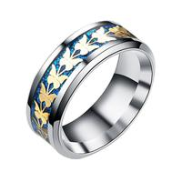 Fashion  Stainless Steel  Women Men Bohemian Vintage Butterfly Totem Rings  Jewelry Delicate