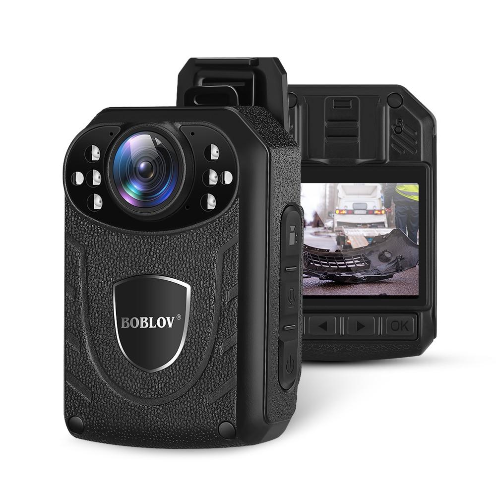 Boblov KJ21 Body Worn Camera HD 1296P DVR Video Security Cam IR Night Vision Wearable Mini Camcorders police camera(China)