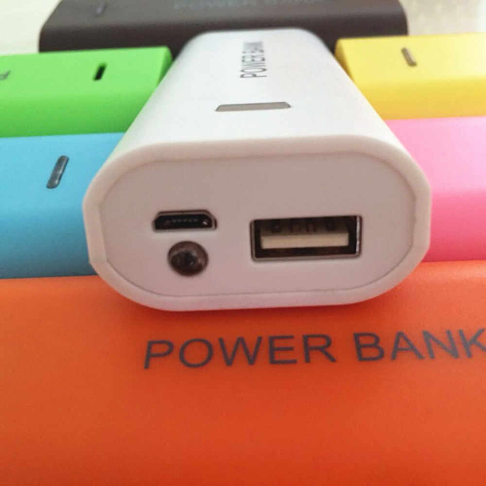Mobile Power Bank Case Eksternal Backup 18650 Charger 5600 MAh 2X18650 USB Power Bank Charger Baterai Case DIY kotak untuk MP3 Telepon