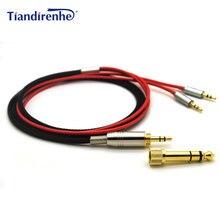 Dla Hifiman HE400S HE 400I HE560 HE 350 HE1000 V2 wymienne słuchawki przewodowe 3.5mm męski 6.35mm do 2x2.5mm męski przewód Audio HIFI