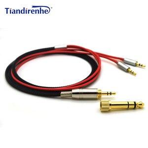Image 1 - Voor Hifiman HE400S HE 400I HE560 Hij 350 HE1000 V2 Vervanging Kabel Hoofdtelefoon 3.5 Mm Male 6.35 Mm Naar 2X2.5 Mm Mannelijk Audio Hifi Cord