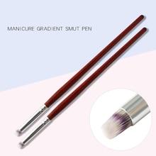 1Pc Wooden Handle Nail Brush DIY Nail Art Gradient Design Round Brush Professional Nail Brush Art Tool LPV