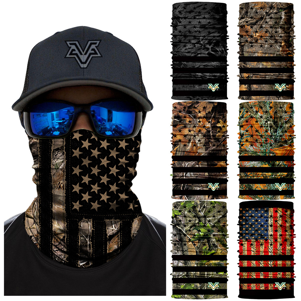 Stars and Stripes Magic Scarf Color Skull Mask Cycling Hiking Headwear Camouflage Neck Gaiter Bandanas Seamless Balaclava(China)
