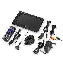 LEADSTAR için 7 inç DVB T T2 16:9 HD dijital Analog taşınabilir TV renkli televizyon oynatıcı ev araba için İngiltere tak