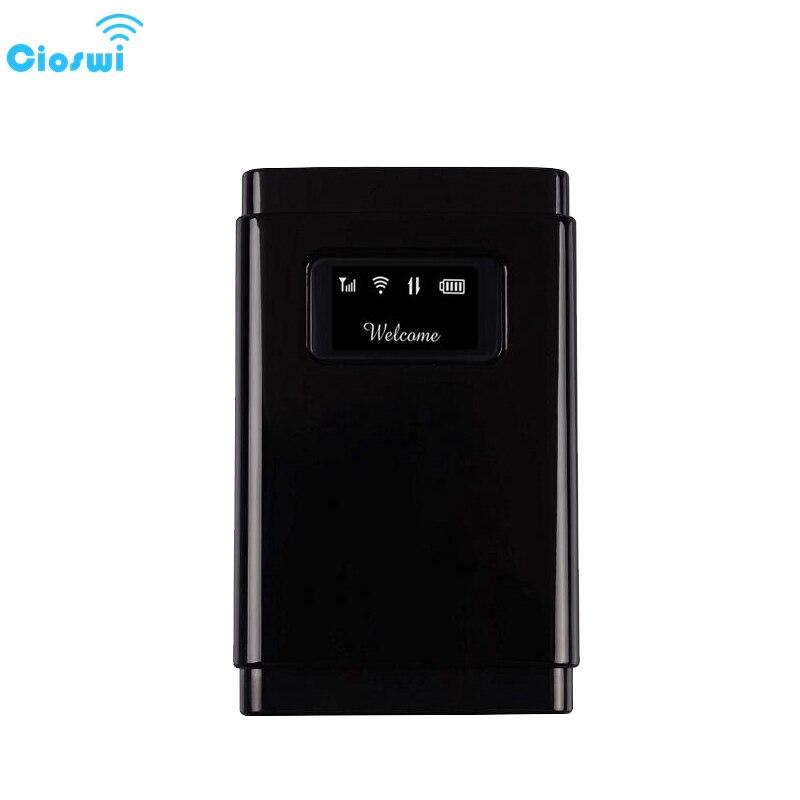 Cioswi Mobile 3G 4G Lte Modem routeur Wifi sans fil pour voiture 4G Mifi avec emplacement pour carte SIM pour les affaires de voyage 2500mAh longue veille
