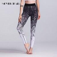 2017 High Quality White Black Women Pants Gradient Printed Women Leggings Gymming Lady Women Sexy Push