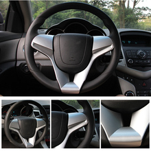 For Chevrolet For Classic Cruze Sedan Hatchback 2009 2010 2011 12 13 14 Car Steering Wheel Trim Cover Chrome Sticker Accessories hot sale car accessories steering wheel cover sticker case for chevrolet cruze trax hatchback sedan 2012 2013 2014
