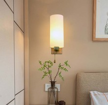 Indoor Wall Lamps Bedroom Simple Style Sconces Light Lamp Bedding Luminaria Creative Staircase Living Room