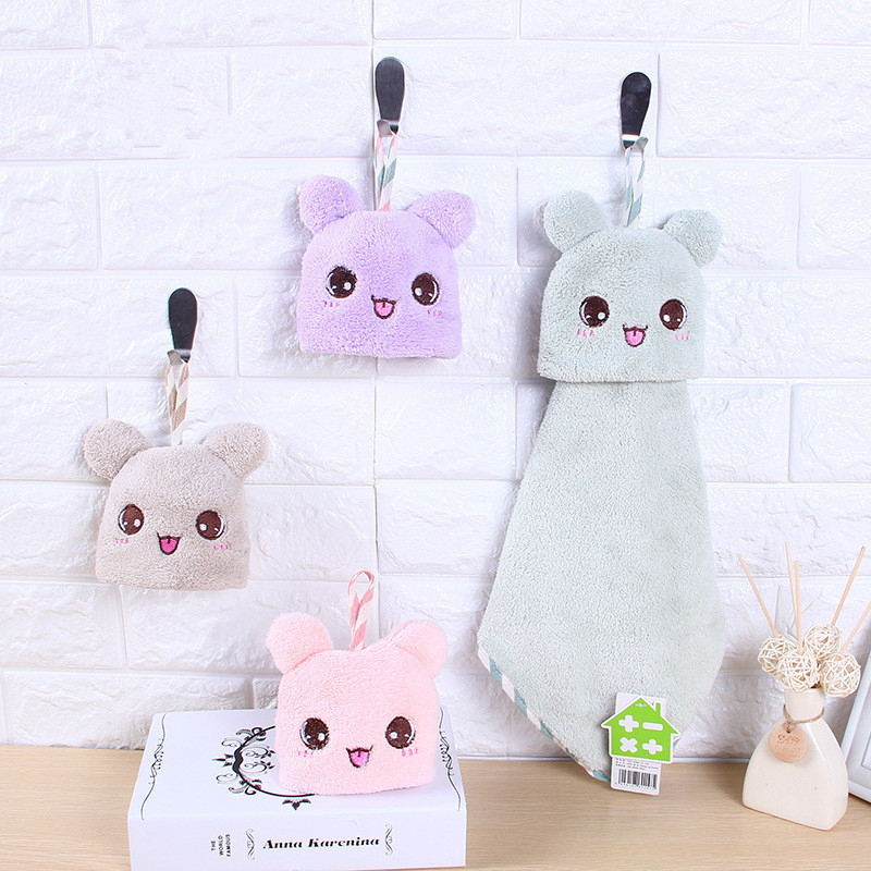 Hand Towel Cartoon Towel For Kids Chidren Microfiber Absorbent Hand Dry Towel Kitchen Bathroom Soft Plush Dishcloths