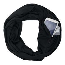 fb288c0d877efd Nieuwe 2018 Soft Zipper Pocket Sjaal Unisex Liefhebbers Winter Solid Warm  Loop Sjaal Ritssluiting Secret Pocket