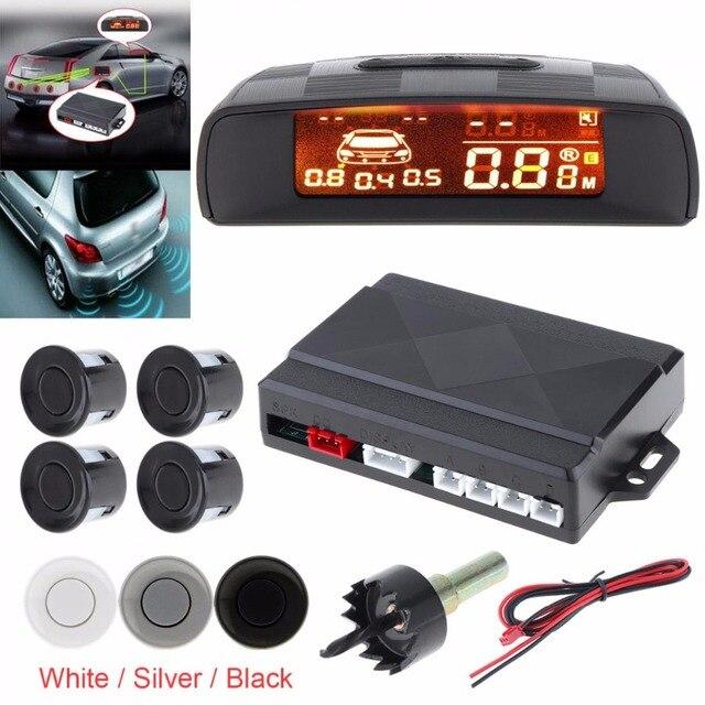 Парковочный радар для автомобиля светодиодный парковка Сенсор с 4 Сенсор s обратный резервный Радар для парковки монитор детектор Системы с ЖК-дисплей Дисплей