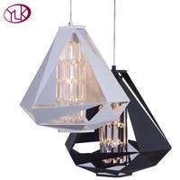 Modern Nordic Lustre Crystal Pendant Lights Diamond Desig Pendant Lamp E14 For Decor Hanging Lamp Luminaria