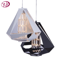 Modern Nordic Lustre Crystal Pendant Lights Diamond Desig Pendant Lamp E14 for Decor Hanging Lamp luminaria Light Fixtures avize