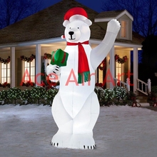 froze holiday Christmas good gifts outdoor standing inflatable polar bear for Christmas event