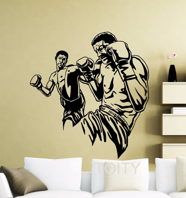 MMA UFC Fighters Poster Wall Art Sticker Extreme Fight Sport Martial ...