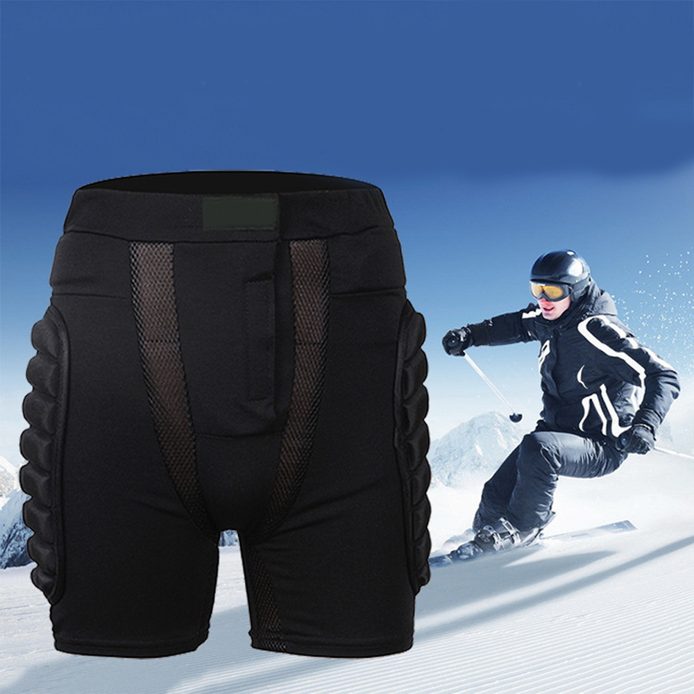 Brand Children Men Sports Ski Protection Hip Pads Snow Skate Snowboard Protection Drop Resistance Roller Paded Skiing Pants 5pcs in 1 outdoor sports protection skiing hip pad knee pads wrist support palm for roller skating snowboard protection black