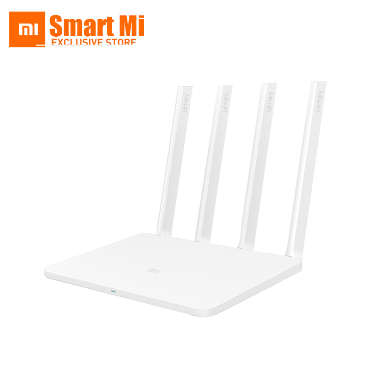 Original English XiaoMi Router 3 Mi Smart WIFI ROM 128MB 2.4G/5.0GHz 1167Mbps 4 Antenna Dual Band USB Port Wireless Routers