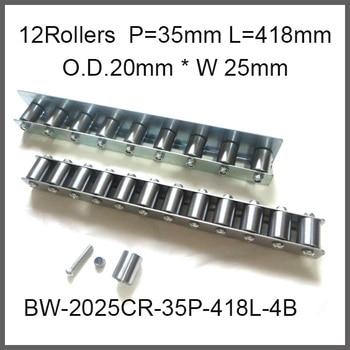 12pcs wheels 35mm Pitch * 418mm Long Skate Wheel Conveyor Wheel 20mm O.D.* 25mm Width Gravity Conveyor roller Capacity 40Kgf