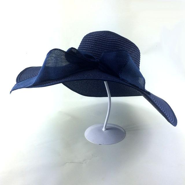 Moda Floppy Summer Sun de la paja visera sombrero de playa sombrero para mujer las señoras sombrero grande del borde Hot 2016 nuevo