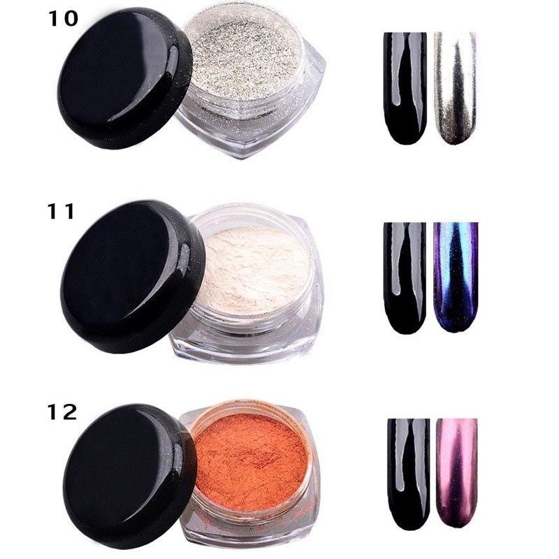 2016 New 1 Pc 3g DIY Shinning Chrome Mirror Powder Nail 12 Colors ...