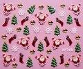 Regalo de Navidad 3D diseño de Uñas de Arte de Transferencia de Agua calcomanías Etiqueta Engomada de señora women manicura herramientas Nail Wraps Tatuajes XF368