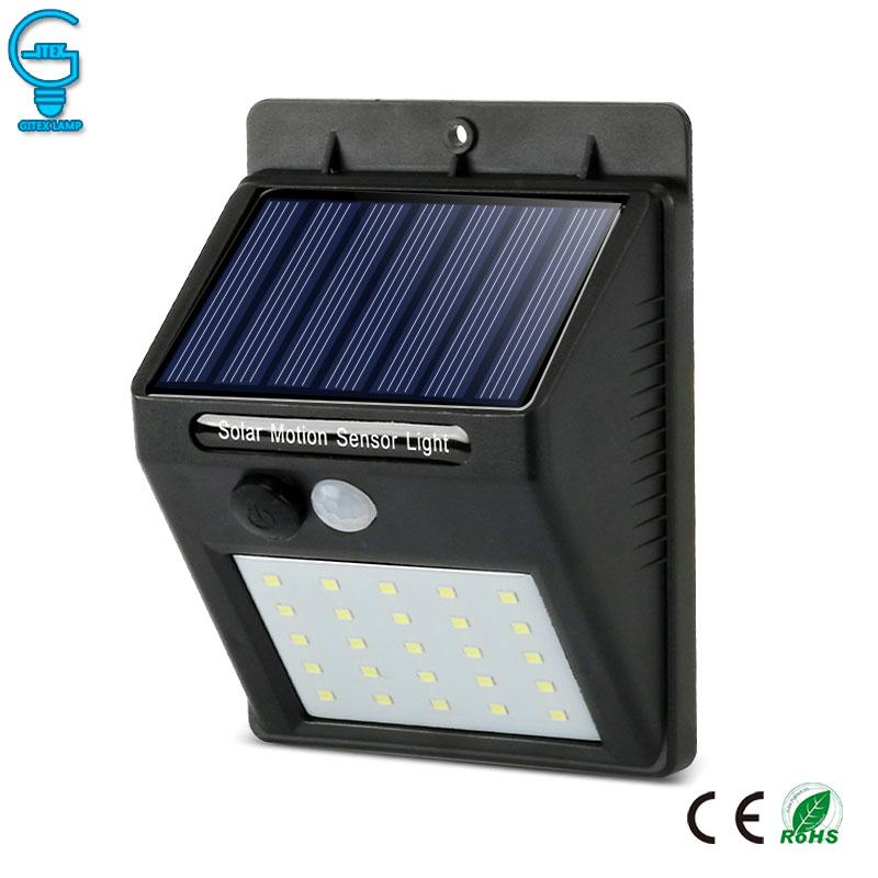 Solar Licht PIR Motion Sensor Wand Licht Wasserdichte LED Solar Lampe Energie Sparende Im Garten Sicherheit Lampe