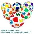 9.5 cm Número Cores Bolas de Brinquedo Educacional Precoce das Crianças Toddler Algodão Macio Bola De Borracha