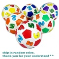 9.5cm Children Toddler Kid's Early Educational Toy Balls Colors Number Soft Cotton Rubber Ball
