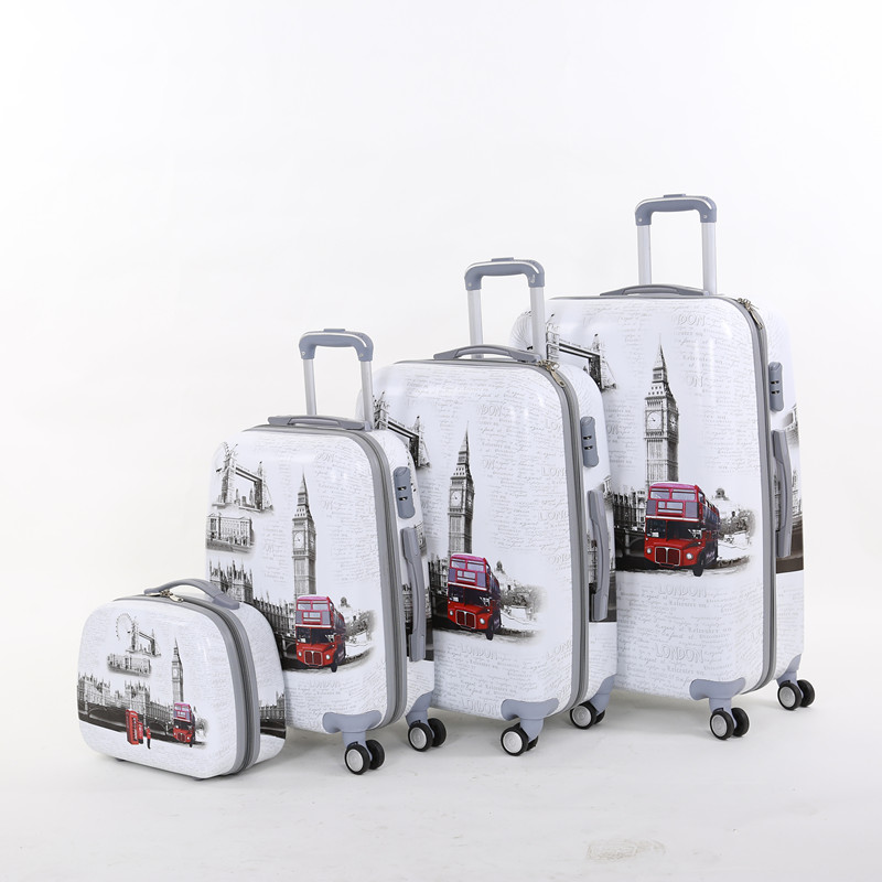 Wholesale!14 20 24 28inches(4pieces/set) europe fashion style pc hardside trolley luggage bags sets,windmill travel luggage set wholesale 14 20 24 28inches pc butterfly travel luggage sets 4 pieces universal wheels trolley luggage sets for women