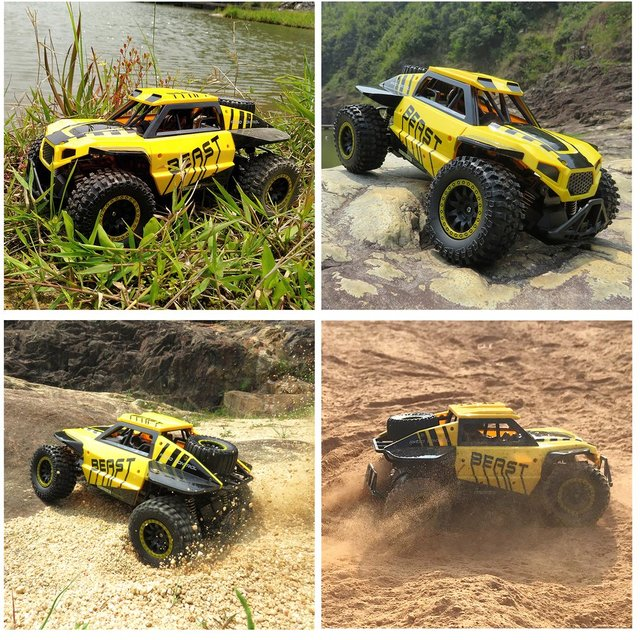 Flytec SL-146A1/18 Scale 2.4Ghz 4WD RC Car 30km/h High Speed RC Crawler Climber Buggy Off-Road Rock RC Remote Control Car RTR