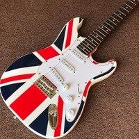 New arrive Custom Shop ,national flag design ST Electric Guitar Real photo shows