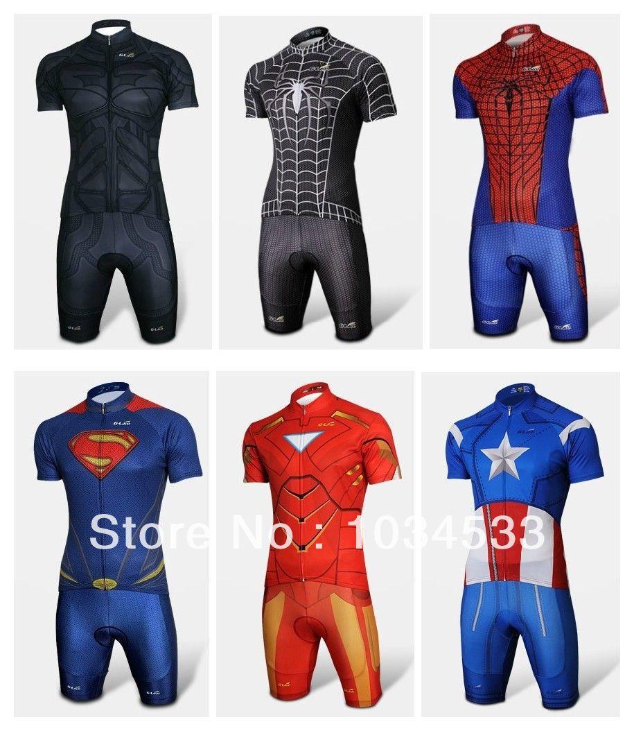 aliexpresscom buy spider man black venom iron man batman superman captain america costume cycling kit bicycle short jerseyshort from reliable suit male batman superman iron man