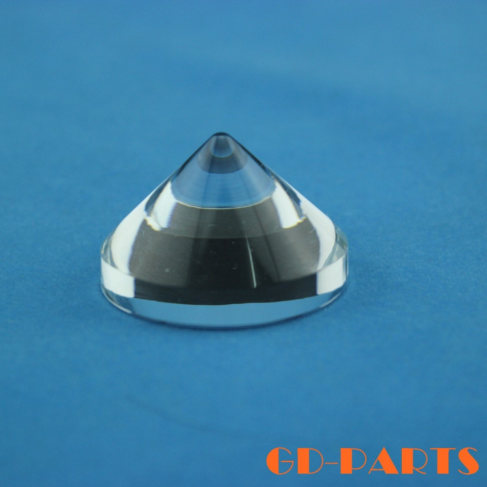 GD-PARTS 4PCS Crystal Clear Amplifier Spike Turntable CD Player Speaker DAC DVD Computer Cabinet Feet 40x25mm