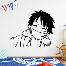 Custom monkey d luffy Wall Mural Removable Decal Vinyl Wallpaper Home Decor