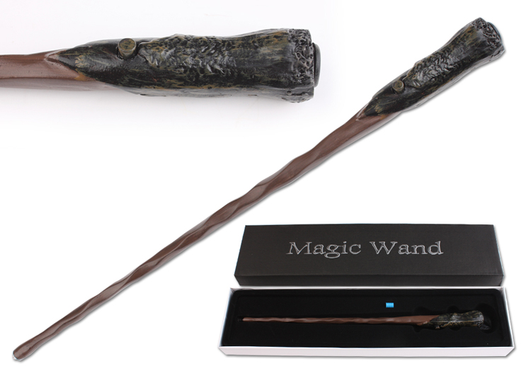 new arrive harry potter ron led light mystical lord cosplay magic wand christmas gift toywith new
