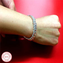 10mm 20cm 925 sterling silver bracelet russian runway chain link bracelet for men fashion jewelry american women bracelets(China)