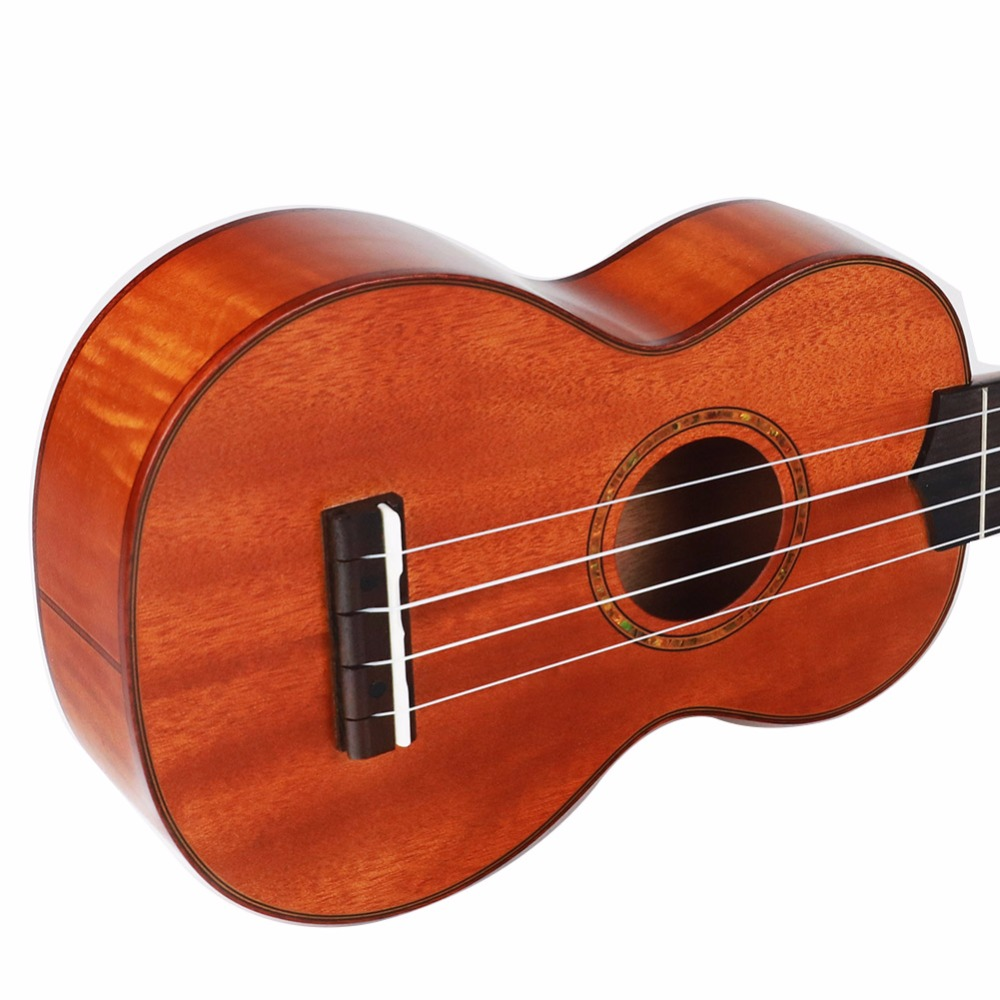 21 Inch Mahogany Ukulele Wood Colour Rosewood 12 Frets 4 Strings