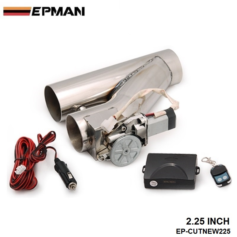 2.25 Stainless Steel Motorized Electric Exhaust Cutoff Bypass Valve Cutout+Remote For VW Golf GTI MK2 EP-CUTNEW225