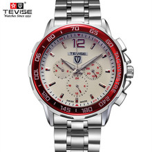 TEVISE men watches stainless steel sport