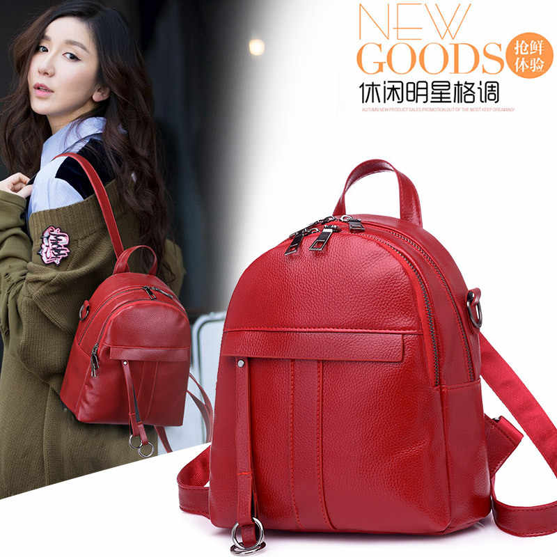 ... Preppy Style Mini Women Backpack Leather Lady Fashion Backbags Cute Red  School Bags Backpacks For Teenager ... 8ccb249d5a1cb