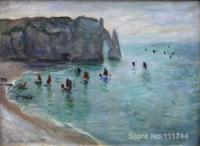 Etretat the Aval Door Fishing Boats Leaving the Harbour Claude Monet Paintings for sale wall art High quality Hand painted