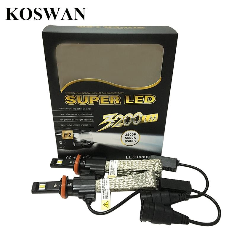 ФОТО 2pcs Car LED Headlight H8 6500K 3200LM 40W Automotive LED Headlamp Fog Light No Fan Design Red Copper Heat Dissipation Belt Bulb