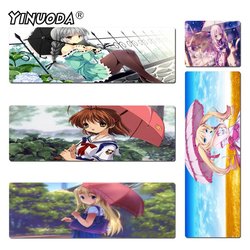 Mouse Pads Dynamic Yinuoda Vintage Cool Anime Umbrella Girl High Speed New Mousepad Size 300x600mm And 400x900mm Harmonious Colors Computer & Office