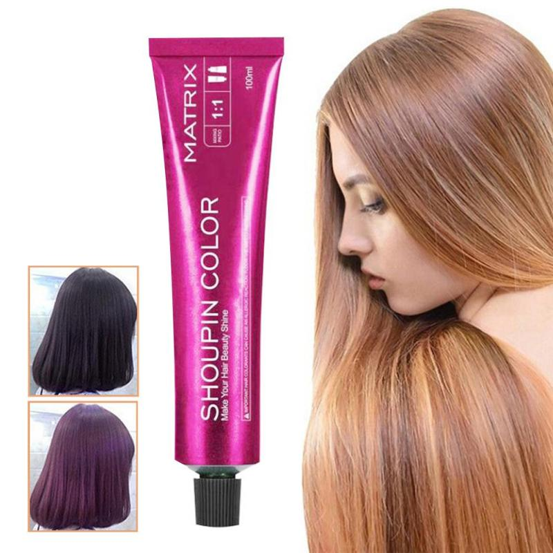 15 Colors Hair Color Cream 100ml Pomade Natural Long Lasting Professional DIY Dye Hairs Smoky Grey Coloring Flaxen Style D3