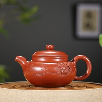 Sand pot of rhyme sea are recommended manufacturers selling ore dahongpao large antique special pot of tea gift custom